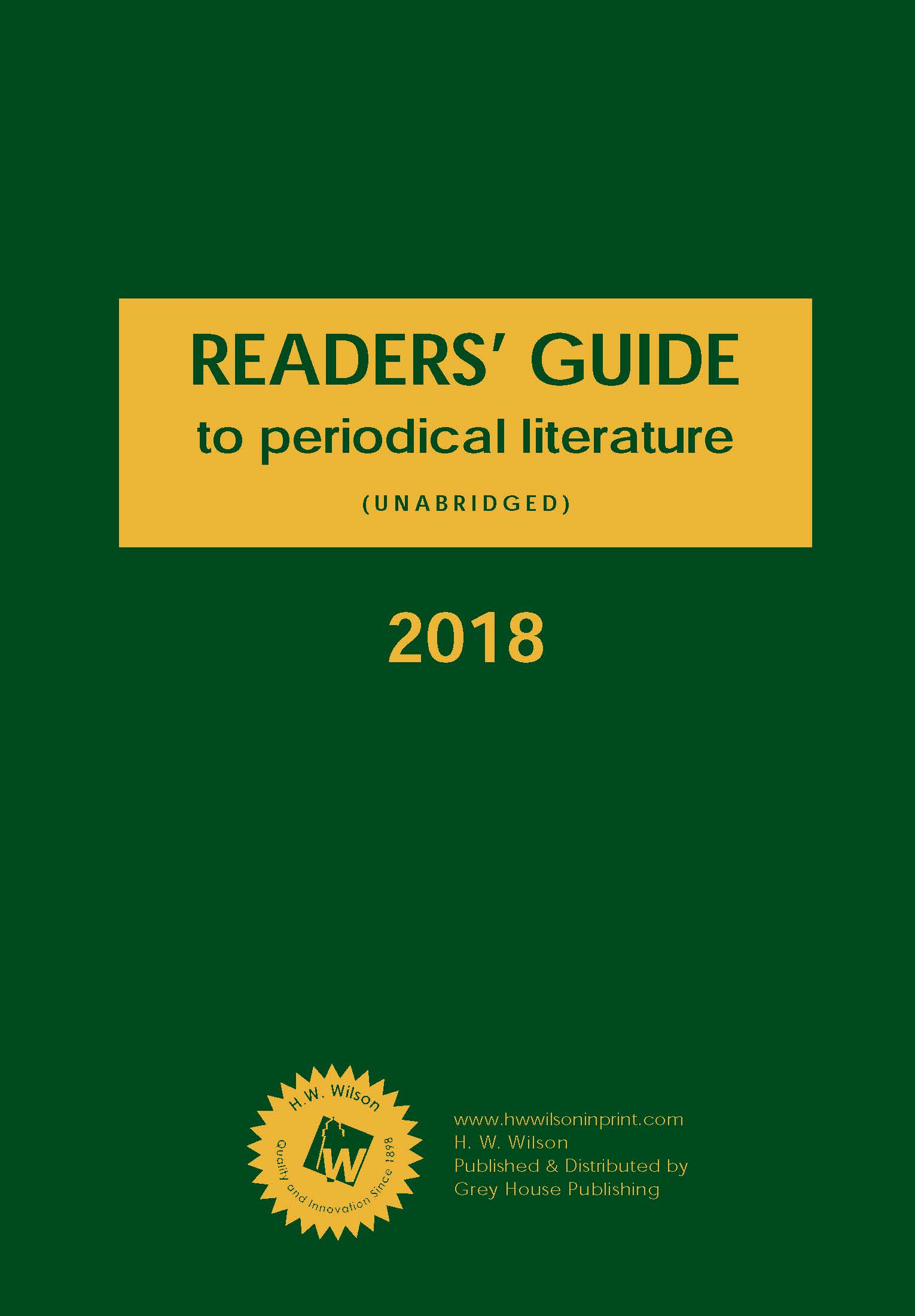 Readers' guide to periodical literature. (Journal ...
